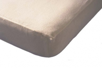 Towelling Fitted Sheet with Waterproof Back Single
