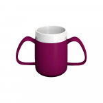 Ornamin Two-Handled Mug with Internal Cone 140ml Blackberry