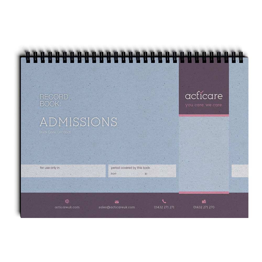 Admissions Record Book