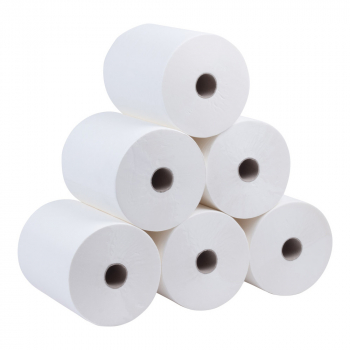 White Continuous Roll Hand Towel 1ply 165mx200mm