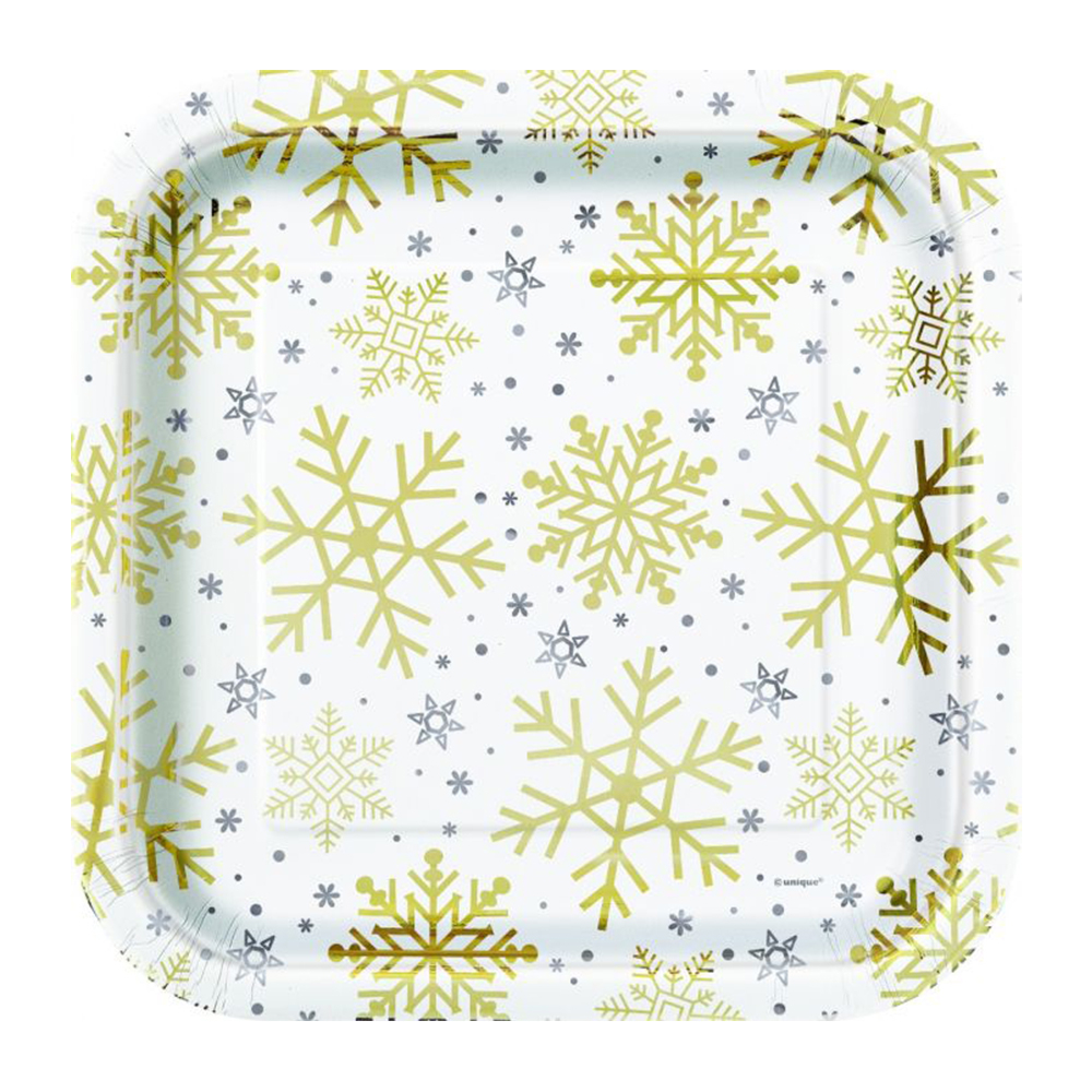 Holly Pop Paper Plates 9inch