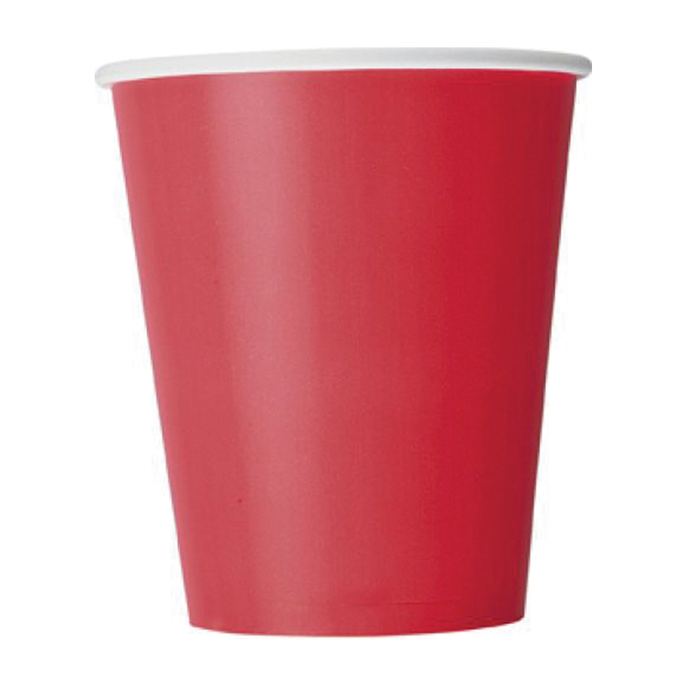 Red Paper Cups 9oz